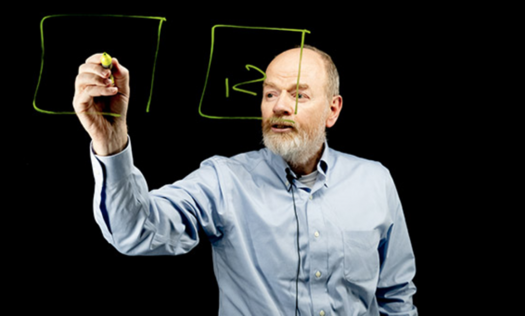 Image of Dr. David Upton using the lightboard